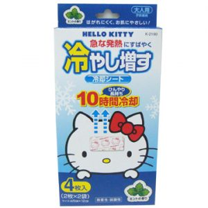 9. 紀陽 HELLO KITTY 退熱貼/4入